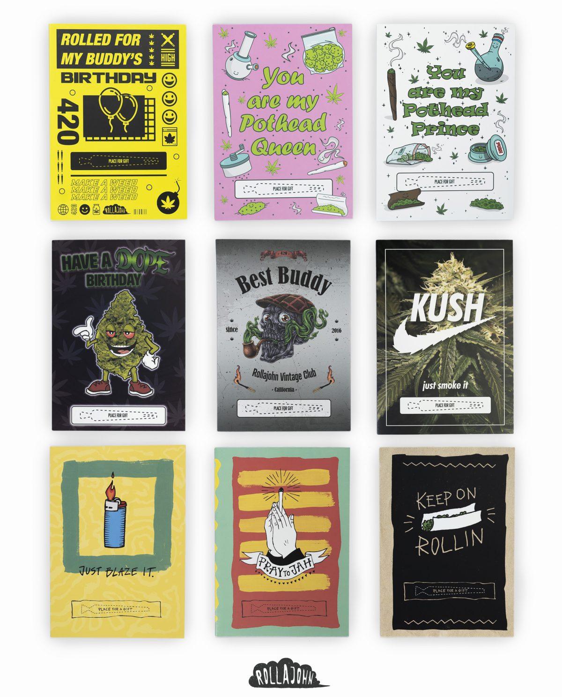 kartki urodzinowe upominkowe rollajohn spliffcards