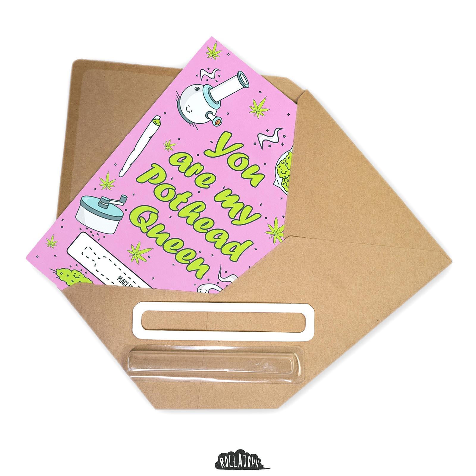 kartka upominkowa w kopercie naturalnej z recyklingu